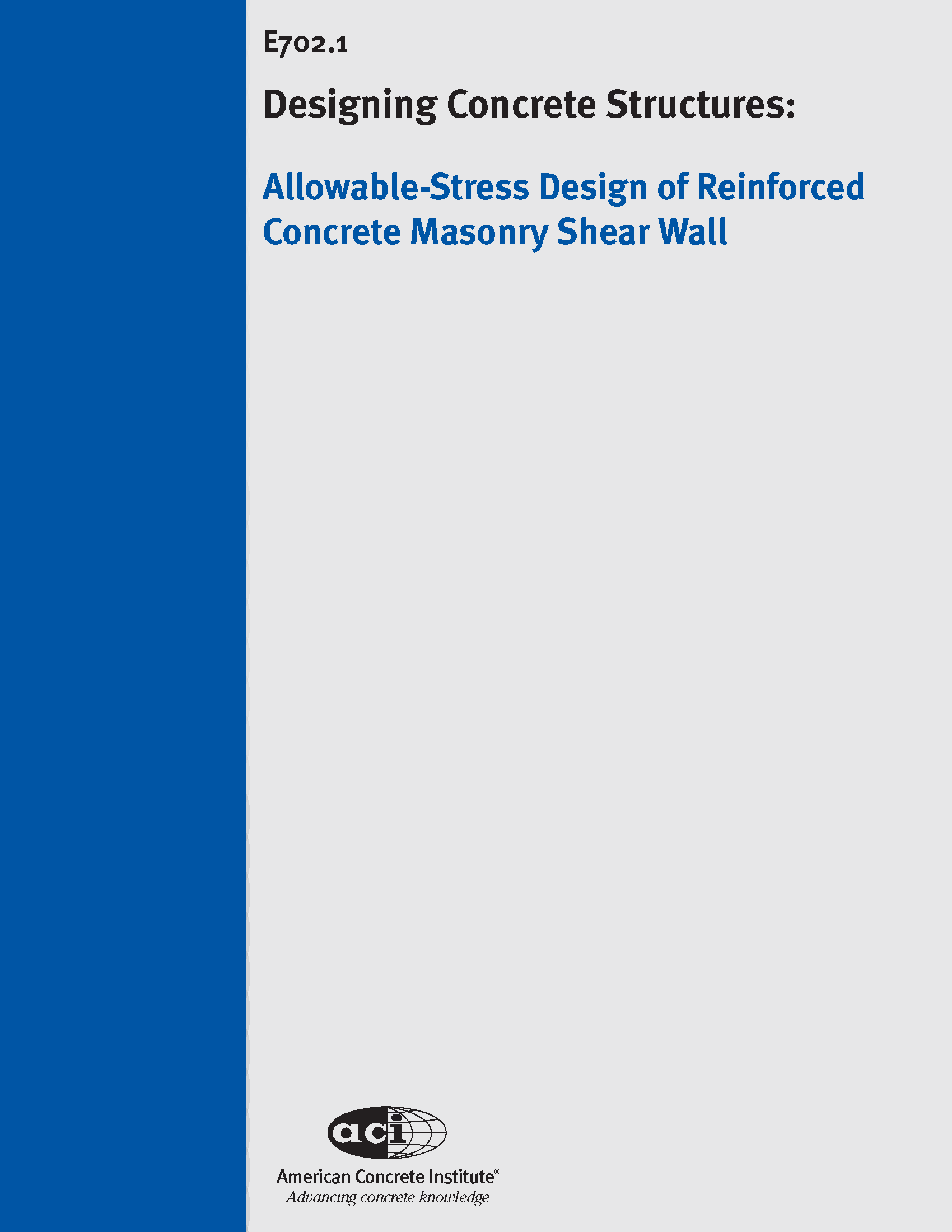 E702.1 06 Allowable Stress Design Of Reinforced Concrete Masonry Shear Wall