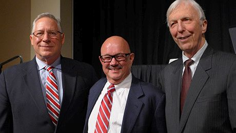 Tom Verti, Dan Baker, and Jim Cagley at the Tribute to the Fellowship Founders gala dinner
